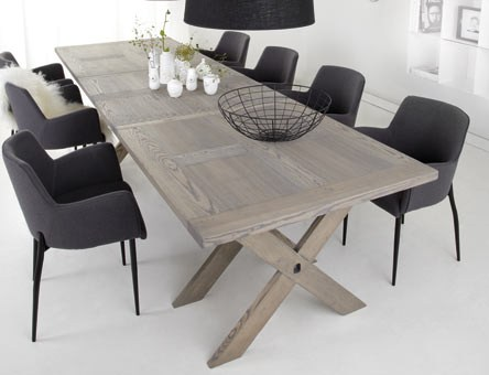 Matbord Ancona grå med X-ben - Bredaryds Möbler
