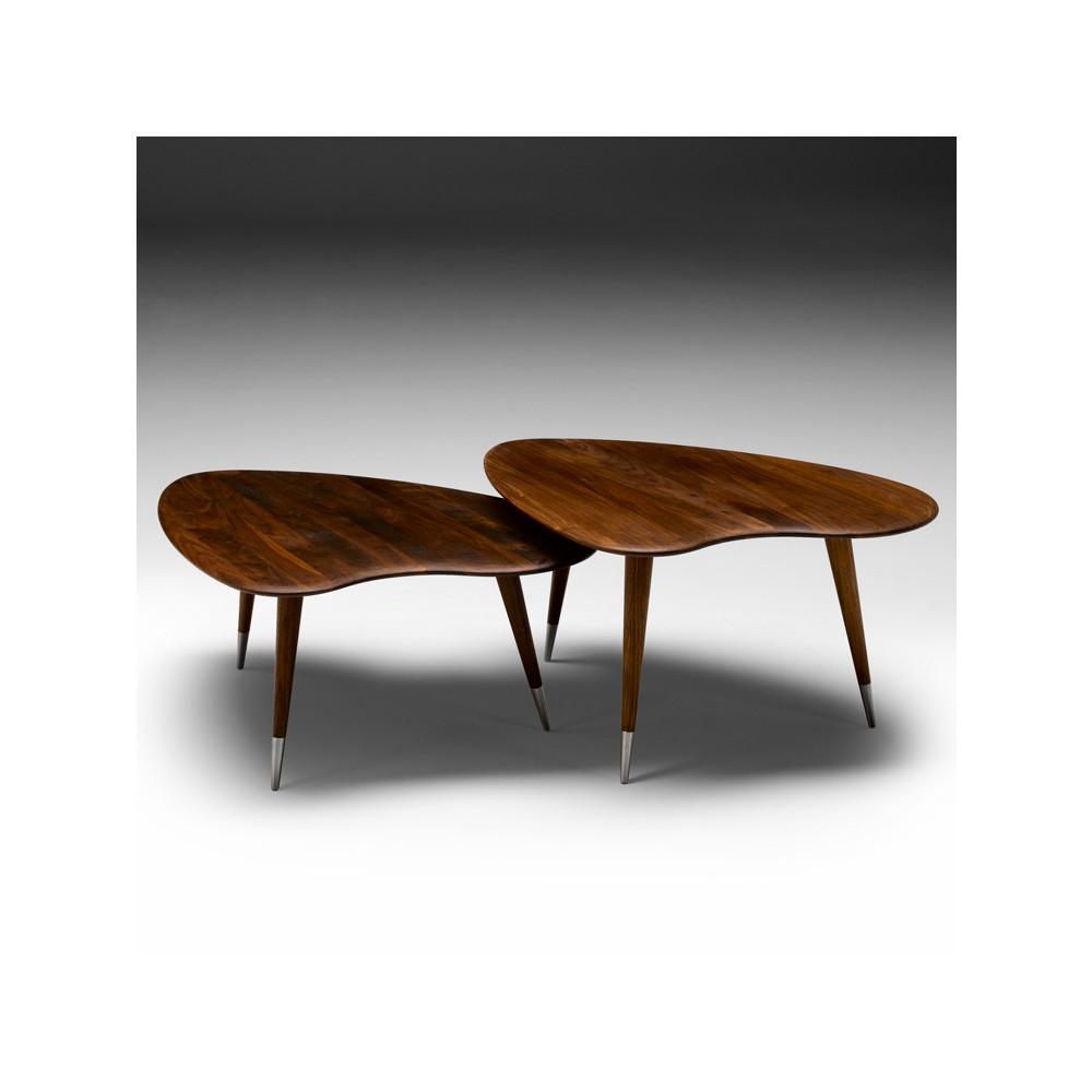 Soffbord soffbord satsbord : Pylon soffbord glas/mässing - Bredaryds Möbler