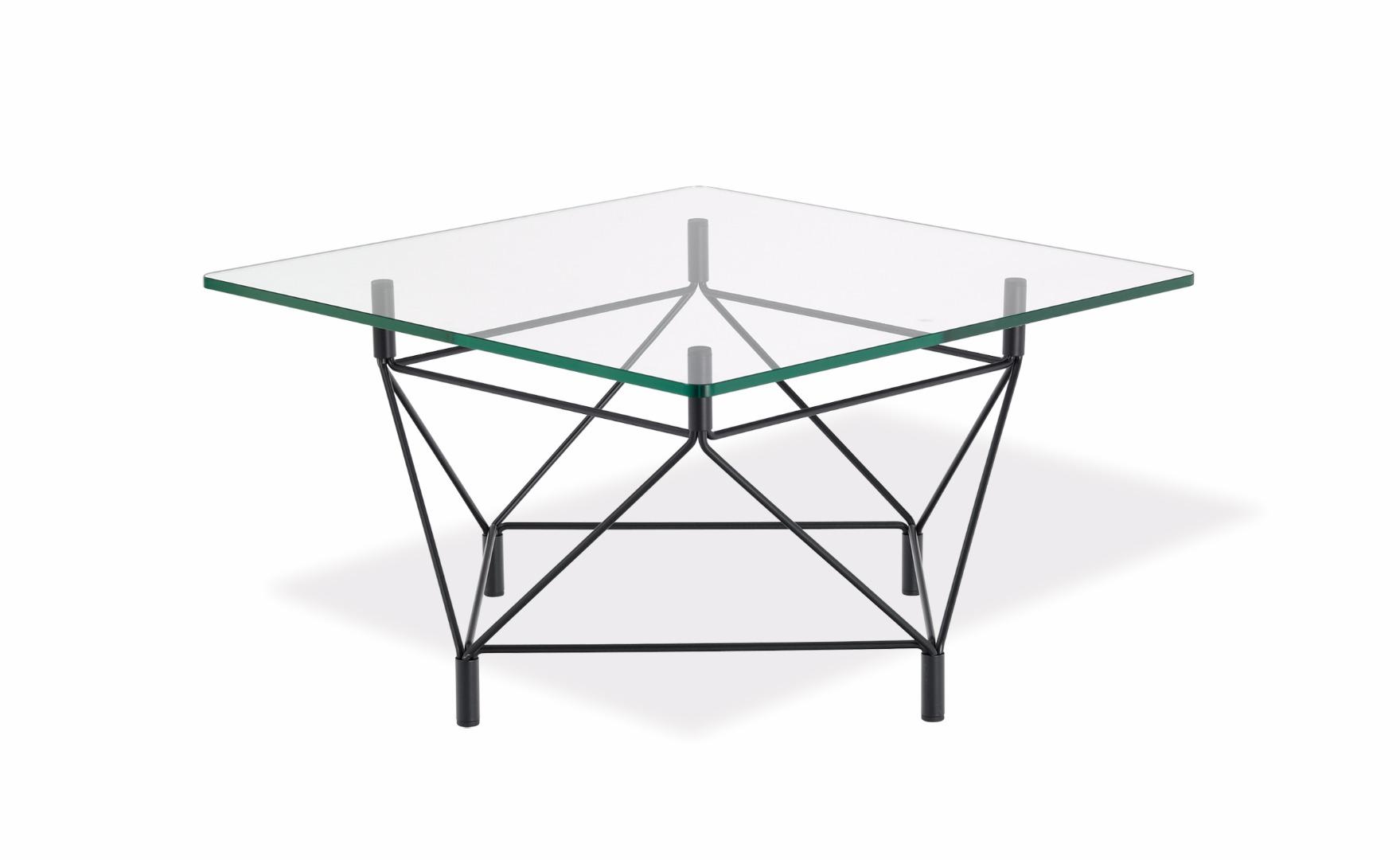 Spider soffbord fyrkantigt glas Bredaryds Möbler